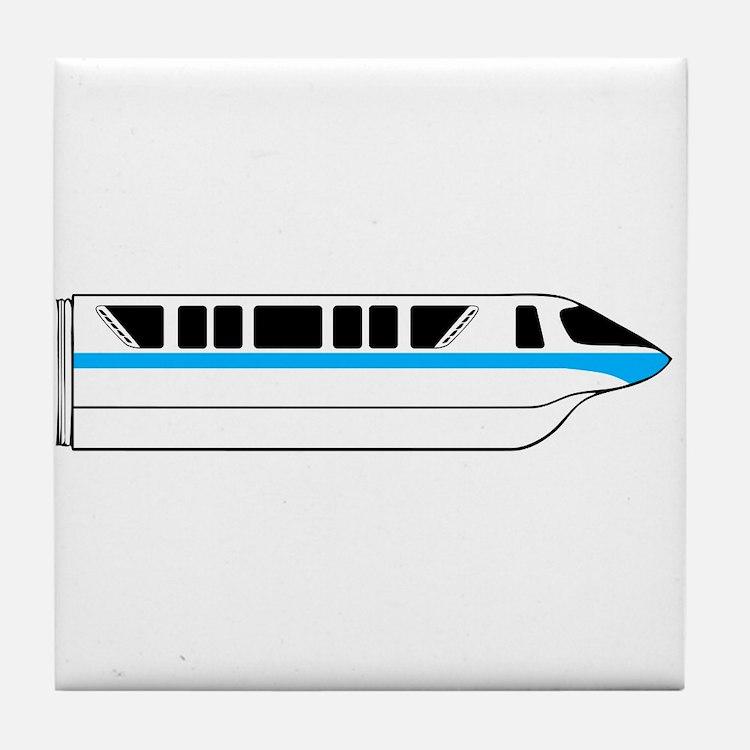 Monorail Blue Tile Coaster