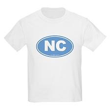 North Carolina NC Euro Oval T-Shirt