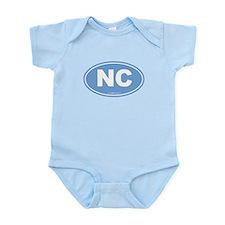 North Carolina NC Euro Oval Infant Bodysuit