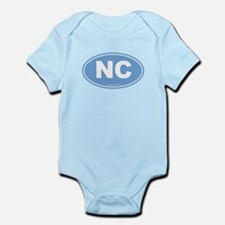 North Carolina NC Euro Oval Infant Bodysuit