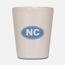 North Carolina NC Euro Oval Shot Glass