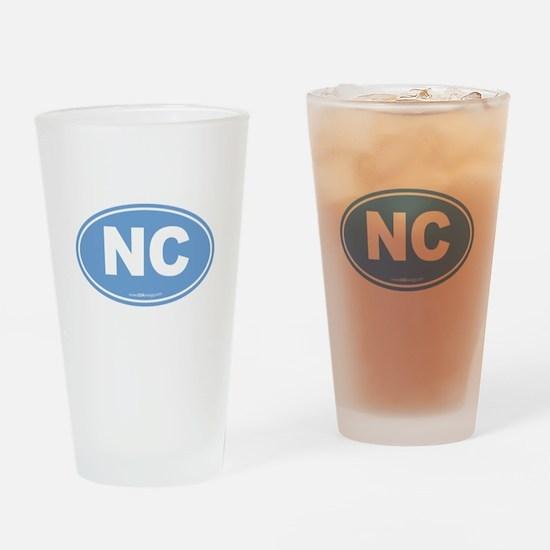 North Carolina NC Euro Oval Drinking Glass