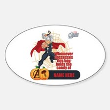 Personalized Halloween Thor Sticker (Oval)