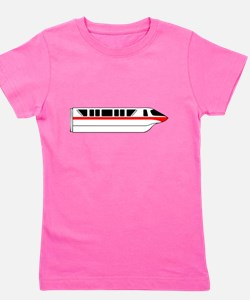 Monorail Red Girl's Tee