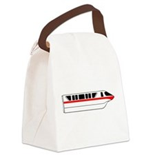 Monorail Red Canvas Lunch Bag