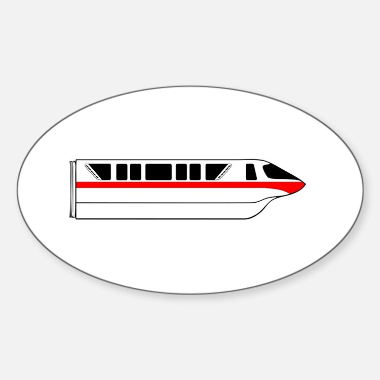 Monorail Red Sticker (Oval)