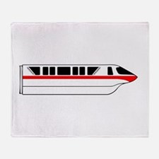 Monorail Red Throw Blanket