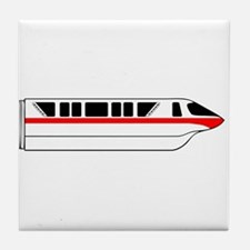Monorail Red Tile Coaster