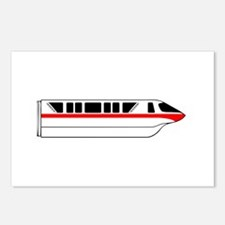 Monorail Red Postcards (Package of 8)
