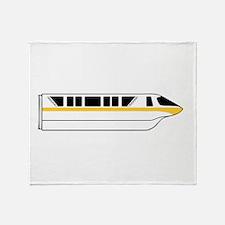 Monorail Yellow Throw Blanket