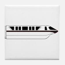 Monorail Black Tile Coaster