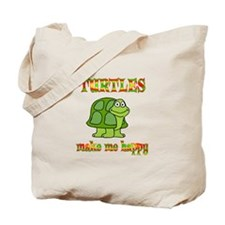 Turtles Make Me Happy Tote Bag
