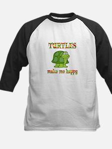 Turtles Make Me Happy Kids Baseball Jersey