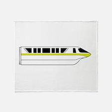 Monorail Lime Throw Blanket
