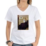 Mom's Coton Women's V-Neck T-Shirt