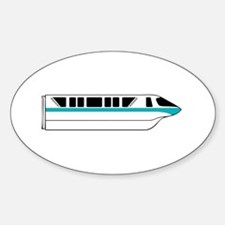 Monorail Teal Sticker (Oval)