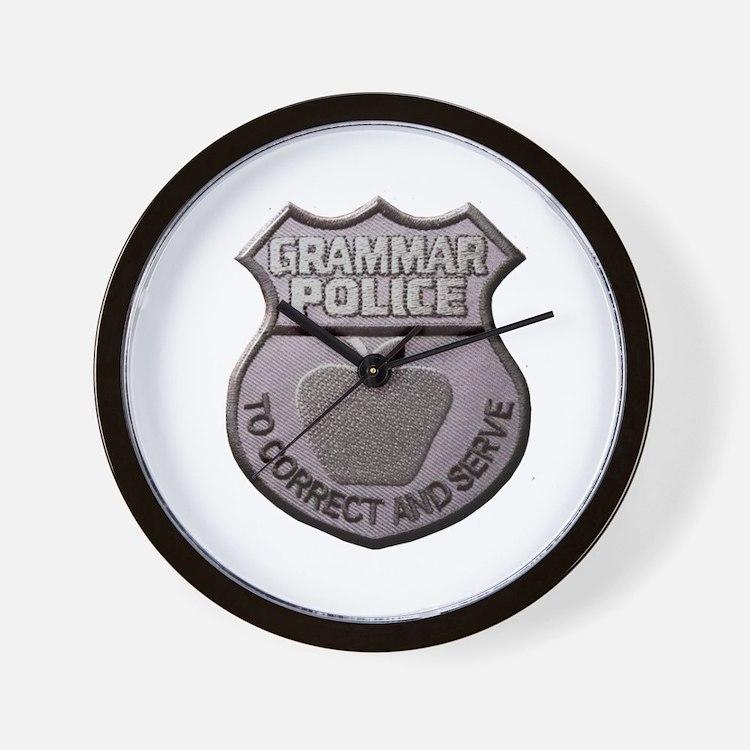 Grammar Police Wall Clock