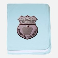 Grammar Police baby blanket