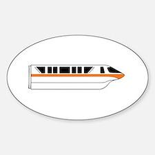 Monorail Orange Sticker (Oval)