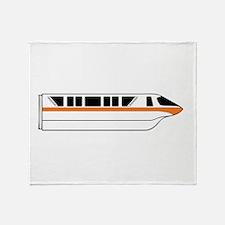 Monorail Orange Throw Blanket