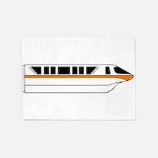 Monorail Orange 5'x7'Area Rug