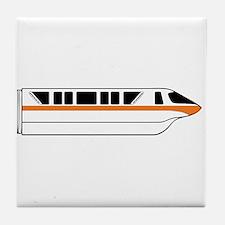 Monorail Orange Tile Coaster