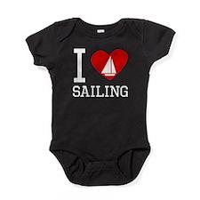 I Heart Sailing Baby Bodysuit