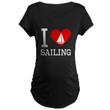 I Heart Sailing Maternity T-Shirt