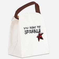 Sparkle Me Canvas Lunch Bag