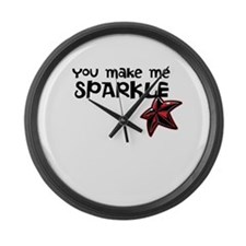 Sparkle Me Large Wall Clock