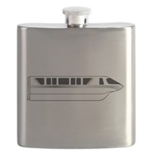 Monorail Silver Flask