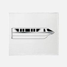 Monorail Silver Throw Blanket