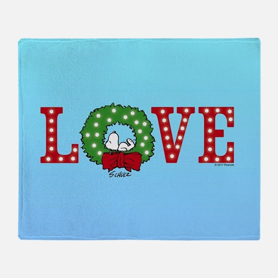 Snoopy Holiday Love Throw Blanket