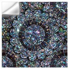 Beaded Sequin Flowers Photo Wall Art Wall Decal
