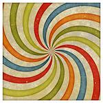 Psychedelic Retro Swirl Wall Art