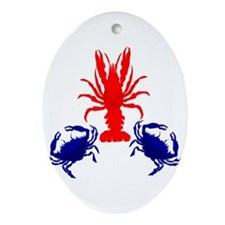 Crabs and Crayfish Ornament (Oval)