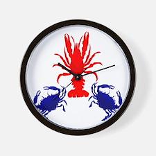 Crabs and Crayfish Wall Clock