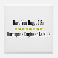Hugged Aerospace Engineer Tile Coaster