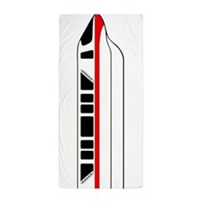 Monorail Red (Vertical) Beach Towel