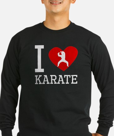 I Heart Karate Long Sleeve T-Shirt
