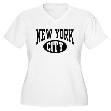 New York City Women's Plus Size V-Neck T-Shirt