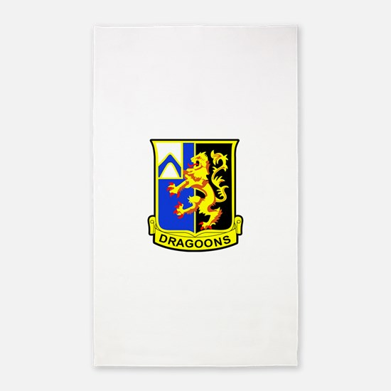 US ARMY 48th INFANTRY REGIMENT PATC 3'x5' Area Rug