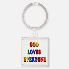 God loves everyone 3-tier Keychains