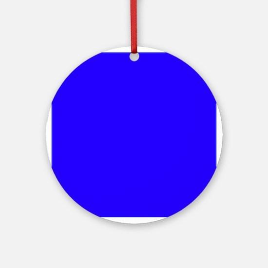 Royal Blue Regalness Ornament (Round)