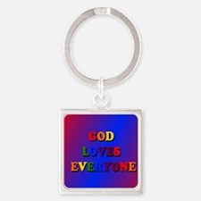 God loves everyone (rainbow) II Keychains