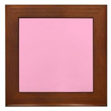 Pink Prettiness Framed Tile