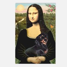 Mona Lisa/Dachshund (BT4) Postcards (Package of 8)