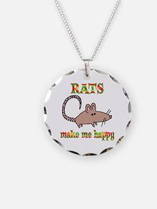 Rats Make Me Happy Necklace