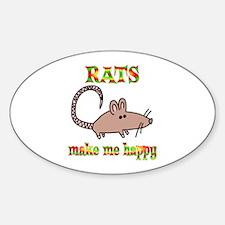 Rats Make Me Happy Decal