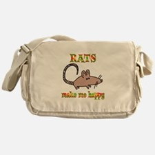 Rats Make Me Happy Messenger Bag